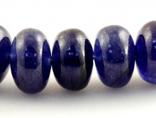 Бусина- полированная рондель для изготовления украшений Handmade. Камень природный:сапфир синий