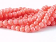 Бусины из коралла роз. персиковый шарик 4,0 мм.
