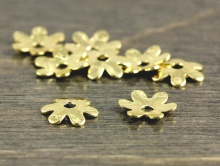 Шапочка для бусин мелкая формы цветка, цвет-золото (родиевое покрытие).