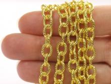Цепочка крупная 8.8 мм. цвет золото для создания украшений