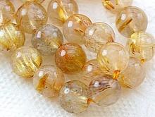 рутиловый кварц золотистый (волосатик)