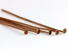 Пин гвоздик 45х0.8 мм. цвет античная медь фурнитура для рукоделия