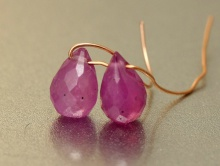 бусина бриолет огранённый 6.5-7 мм из натурального камня рубин (корунд)