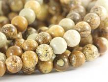 Бусины–камень натуральный-яшма песесочная. Цвета-основные: бежевый, песочный.