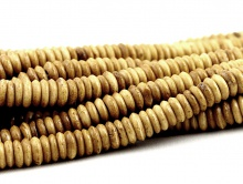 Бусины–Кость натуральная ручной работы Цвет-Коричневый.