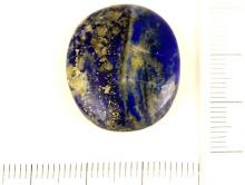 цвет синий сочный кабошон из натурального камня лазурит