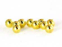 Бусина позолоченная из серебра с покрытием 24 cr золота,