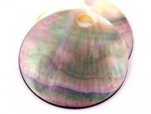Диск-круглая заготовка 45 мм. из натурального перламутра с отверстием, диаметр отверстия 5-6 мм.