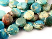 Бусина натуральный камень варисцит 12х4.5 мм. цена за 10 шт.