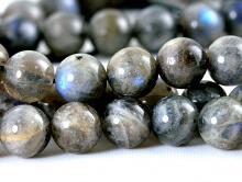 Бусина 8 мм круглая, полированная .-камень лабрадор натуральный, цвет-серый (2 тона), с переливом гна каждой бусине, вн. отверстие 0.8 мм..