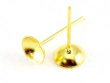 Гвоздик-основа 6 мм. для серег цв. золото.