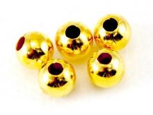 Бусина шарик цв. золото 6 мм.