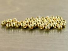 """Бусина распорка родированная """"Маленький шарик"""", диаметр 2 мм. вн. отв. 0,8 мм. Цвет-золото, покрытие износостойкое-родий."""