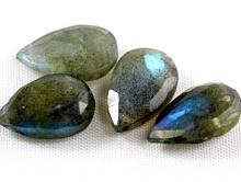Бусина-Лабрадор ограненный лепесток.Камень-Лабрадор