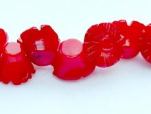 Коралл красный 8х6 мм.