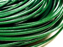 Шнур кожаный 2 мм., цвет зеленый