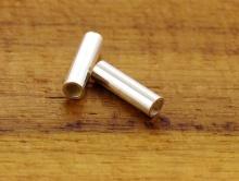 Бусина трубочка серебряная, материал - серебро 925 пробы, размер - 7.2х2 мм. внутреннее отверстие 1.3 мм.