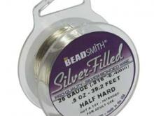 Проволока Silver-Filled средней жесткости  0.8 мм. (20 gа)/2.85 метра.(9.38 футов)