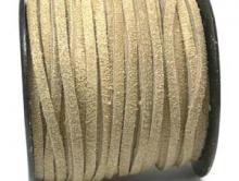 Замшевый шнур 3х1.8 мм, цвет светло-серый.