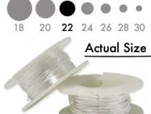 Серебряная мягкая проволока 0.64 мм. (22 ga.) Sterling Silver Dead Soft для ювелирных работ