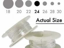 Серебряная мягкая проволока 0.51 мм. (24 ga.) Sterling Silver Dead Soft для ювелирных работ