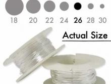 Серебряная мягкая проволока 0.41 мм. (26 ga.) Sterling Silver Dead Soft для ювелирных работ