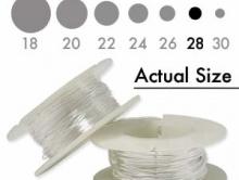 Серебряная мягкая проволока серебряная 0.33 мм. (28 ga.) Sterling Silver Dead Soft для ювелирных работ,