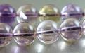 Бусины–аметриннатуральный полированный шар Цвет-светлый сиреневый с золотистым, прозрачный, чистый