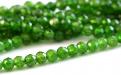 """Бусина огранённая круглая 2.8 мм. Камень натуральный-хромдиопсид, известен как """"сибирский изумруд"""".Класс Премиум.Цвет-зеленый яркий,"""