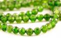 """Бусина круглая 3.5 мм.. Класс Премиум. Камень-хромдиопсид натуральный, известен как """"сибирский изумруд"""". Цвет-зеленый яркий, чистый"""
