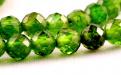 """Бусина круглая 3.5 мм..  Камень-хромдиопсид натуральный, известен как """"сибирский изумруд""""."""