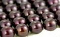 Жемчуг натуральный-вставка7,5х5мм. с несквозным отверстием 1 мм. Цвет - темный шоколад с легким радужным переливом.