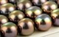 Жемчуг вставка7,5х6мм. с несквозным отверстием, натуральный 1 мм. Цвет - коричневый с радужным переливом, лёгкий зеленоватый оттенок