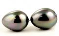 Майорика-имитация жемчуга,крупнаябусина формы капля для подвески или кулона. Цвет-темно-серый с легким зеленовато-голубым переливом,