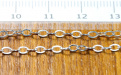 Цепочка паяная серебряная, материал:Sterling Silverсредняя,воздушная