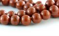 Бусины круглые–камень натуральный яшмакирпичная. Размер–8 мм. внутреннее отверстие 1 мм.