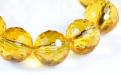 """Бусина шарик ограненный, камень иск. выращенный-цитрин, цвет-золотисто- желтый, сочный, огранка """"соты"""", размер–8 +-0,1 мм. вн. отв. 0,45 мм. Цена за-1 шт. См. еще ФОТО... Используется для изготовления украшений Handmade."""