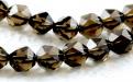 Бусина-огранённый ромб, камень натуральный камень-раух топаз (семество кварцевых-дымчатый кварц), цвет-дымчато-коричневый, прозрачный..