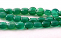 Камень-хризопраз натуральный, форма бусин-таблетка огранённая.Цвет-холодный зелёный, сочный, полупрозрачный.