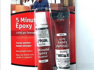 Клей 5 Minute Epoxy-эпоксидный водонепроницаемый, устойчив к большинству химических веществ. Отдично подходит для работы с металлом, деревом, бетоном, стеклом, фарфором и керамикой.
