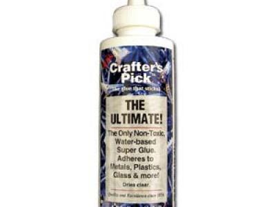 Нетоксичный клей Ultimate Clue Crafter*s Pick на водной основе для различных поверхностей, таких как: пластмасса, металл, керамика, стекло,