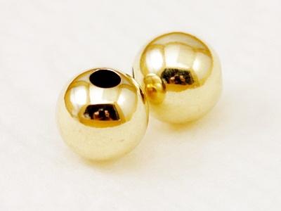 Бусина-шарик Голд Филд, 5 мм