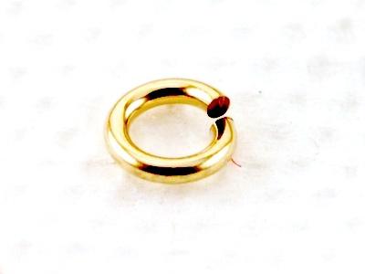 Кольцо открытое 4 мм. Состав-латунь с покрытием Gold Filled