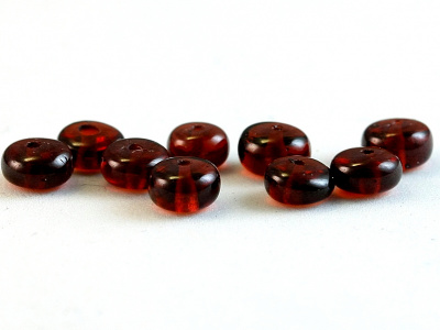 Бусинаформы рондель, камень-гранат красный(андраит),натуральныйполированный.