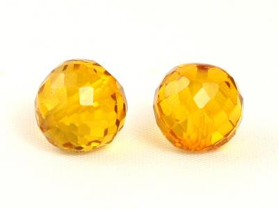 Бусина из камня,камень -оранжевая шпинель(иск. выращенная)шарик ограненный,