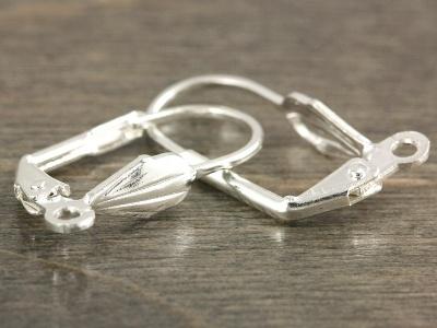 простые серебристые швензы с замком для изготовления серег