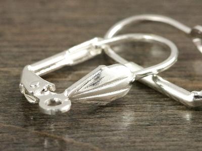простые швензы с замком для изготовления серег серебряного цвета