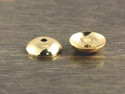 цвет-золото (родиевое покрытие) Шапочкадля бусин круглая плоская