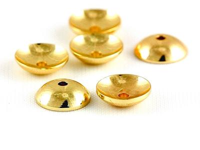 Шапочка для бусин средняя круглая, цвет-золото (родиевое покрытие).