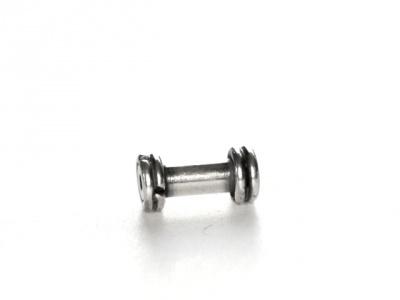 Бусина серебряная трубочка-основа для бусин Handmade, из полимерной глины, бусины Лэмпворк.